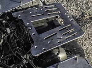 piastra portapacchi artigianale equipaggiamento moto