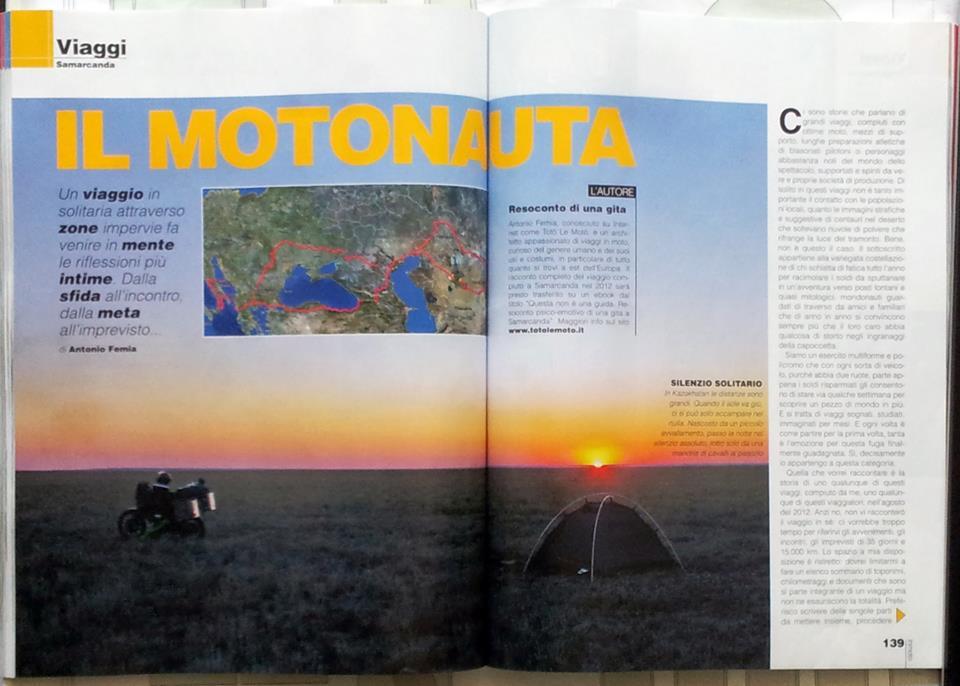 Totò le Motò a Samarcanda. In edicola sul numero 11 di InMoto.