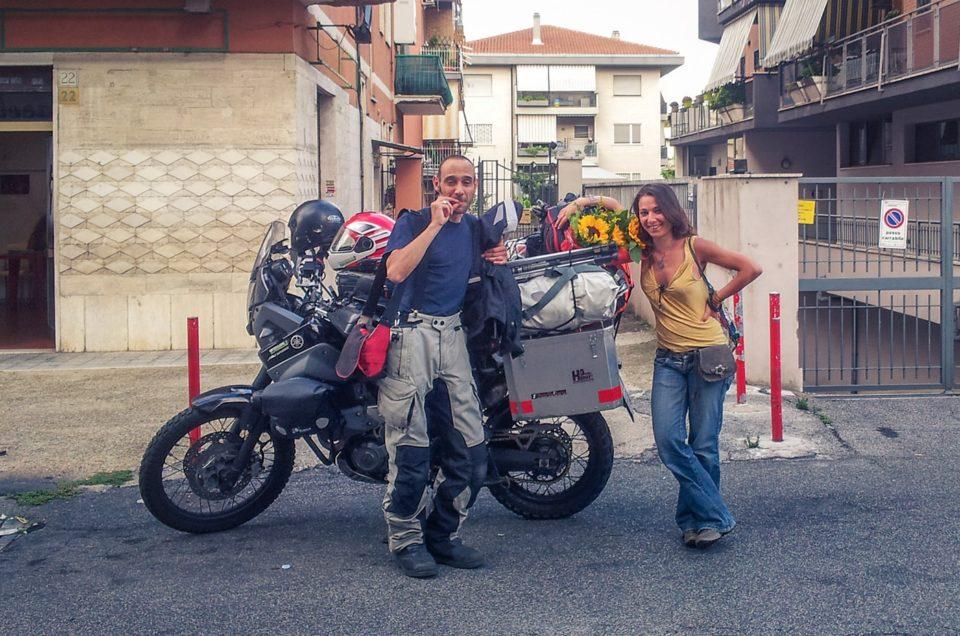 Preparazione giro del mondo in moto. Niente Poesia