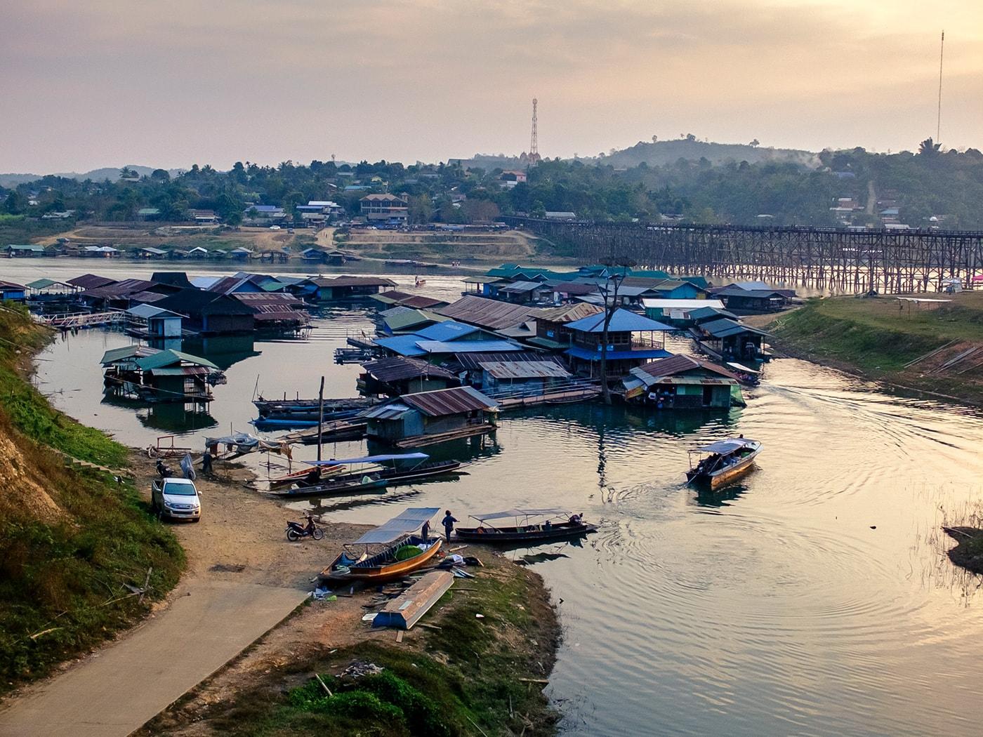 rifugiati birmani sangkhlaburi panorama
