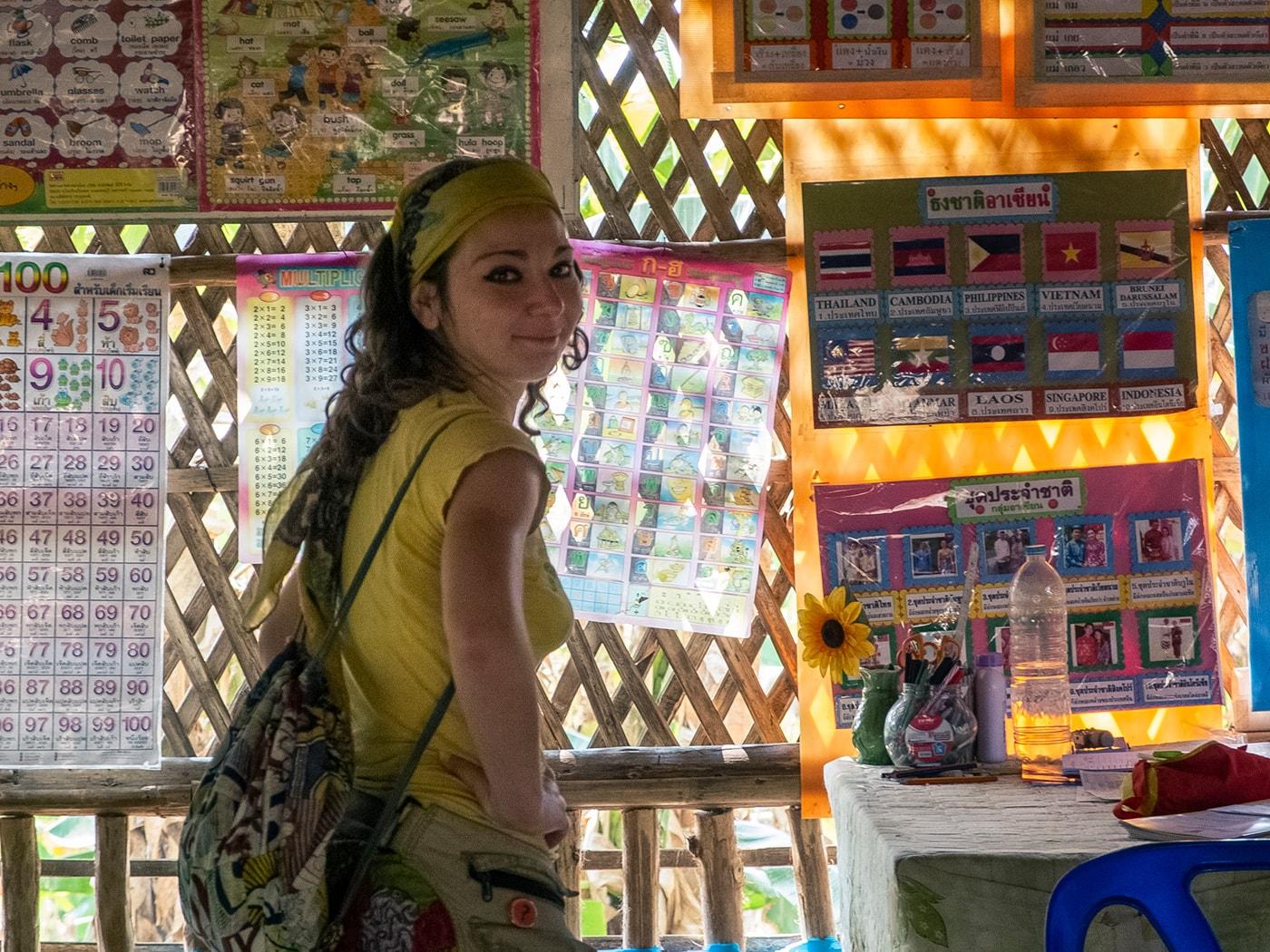 rifugiati birmani sangkhlaburi scuola volontari