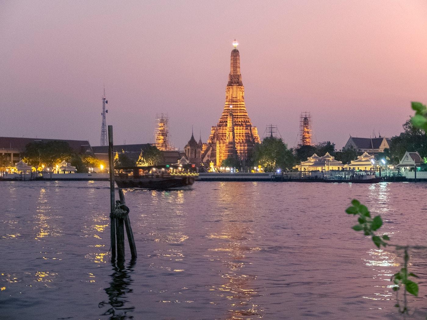 thailandia in moto bangkok fiume