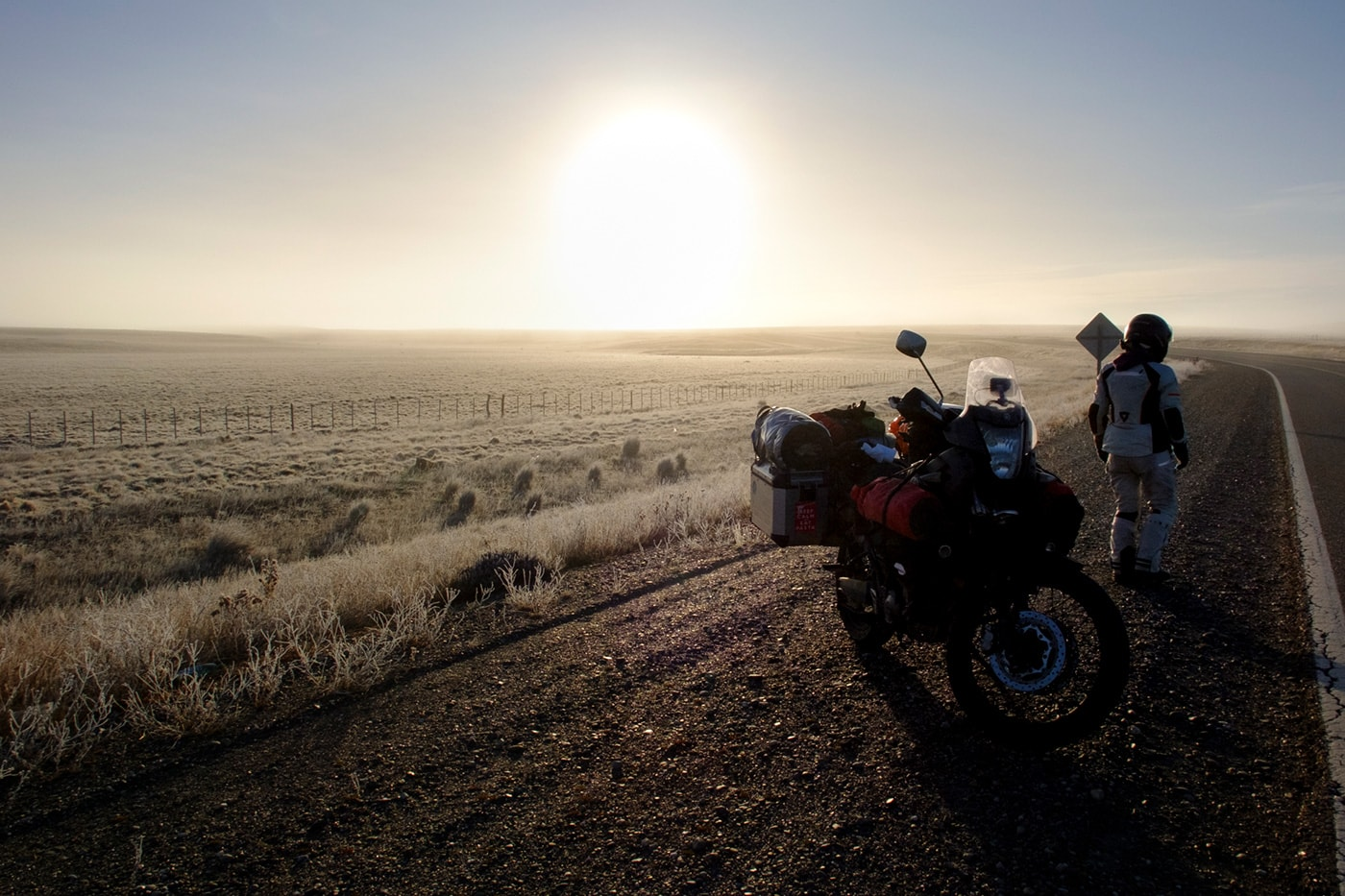 alba gelata patagonia in moto