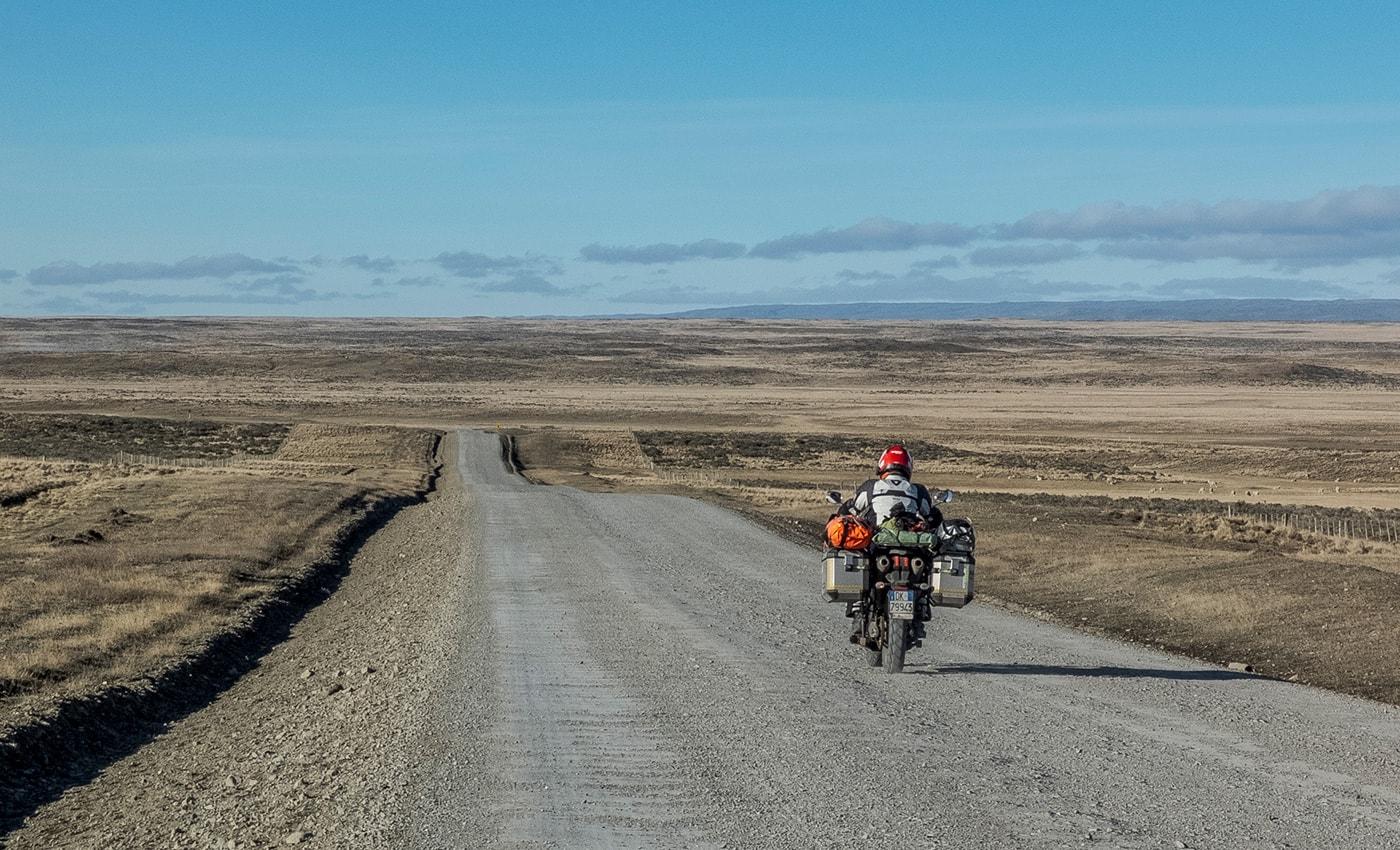 sterrato tierra del fuego in moto