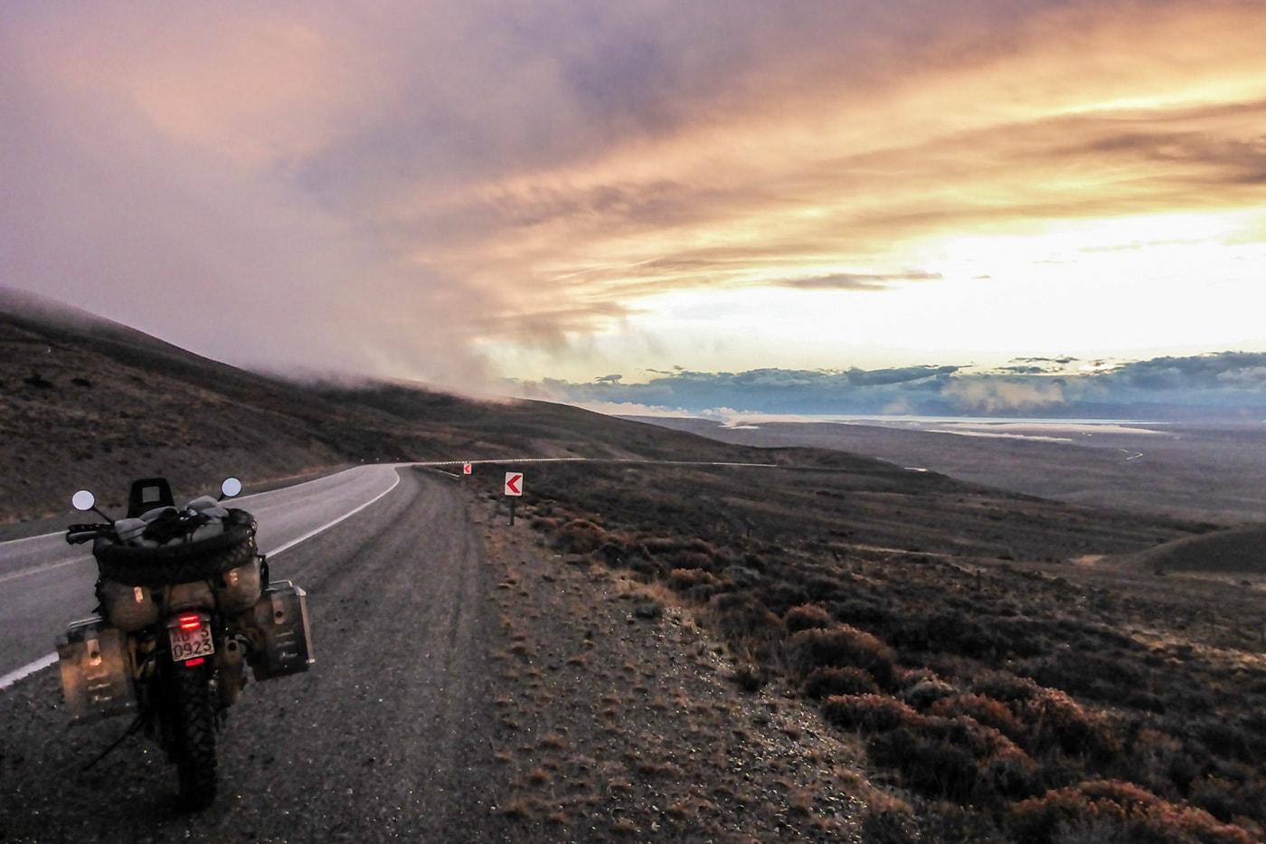 tramonto a el calafate ruta 40