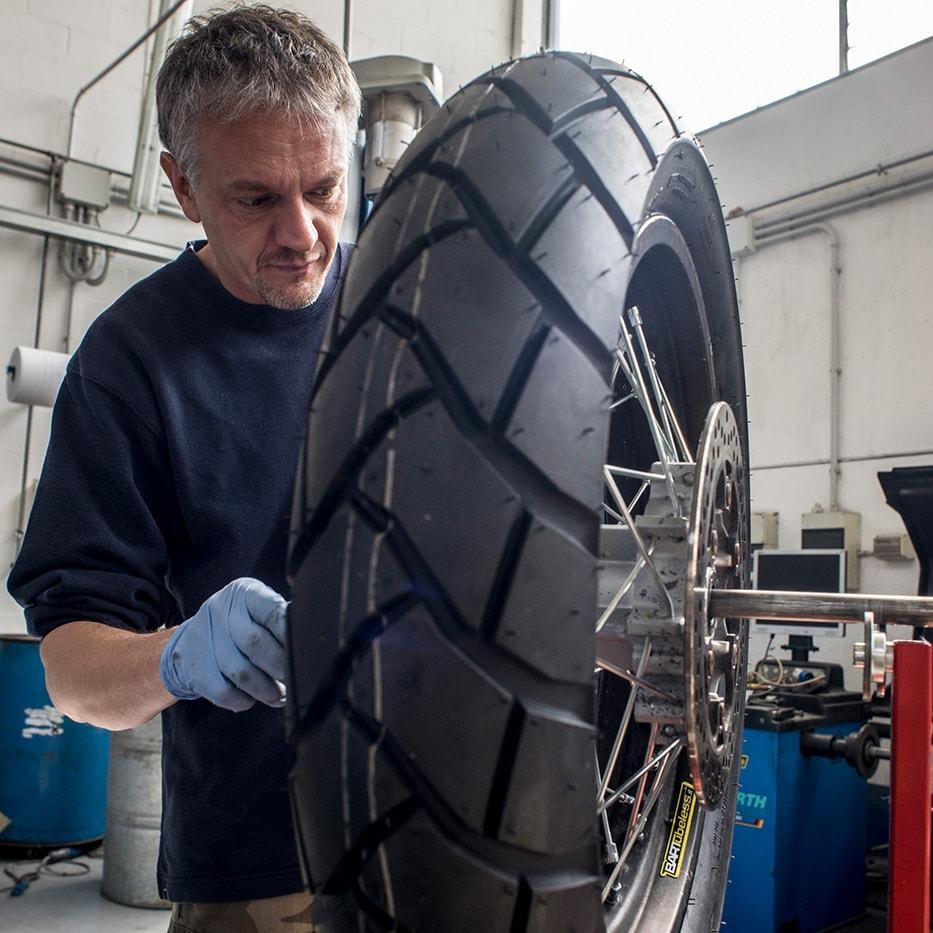 conversione tubeless delle ruote a raggi equilibratura