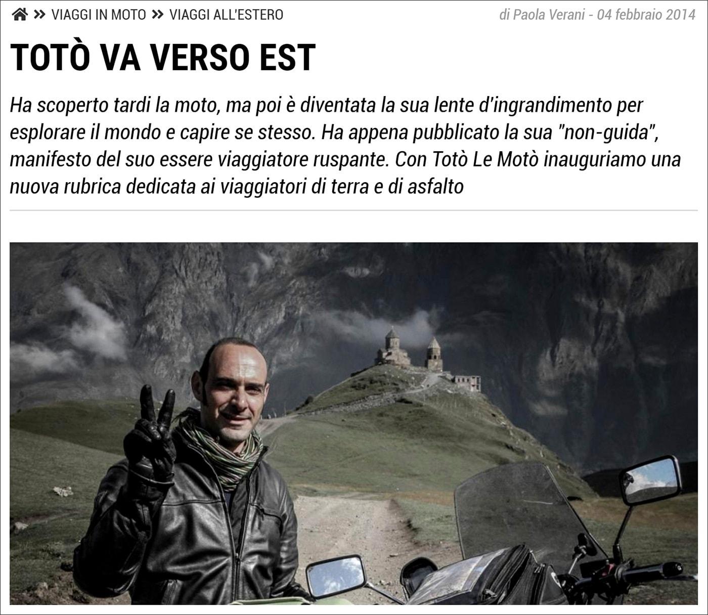 Paola Verani intervista Totò Le Motò per Motociclismo